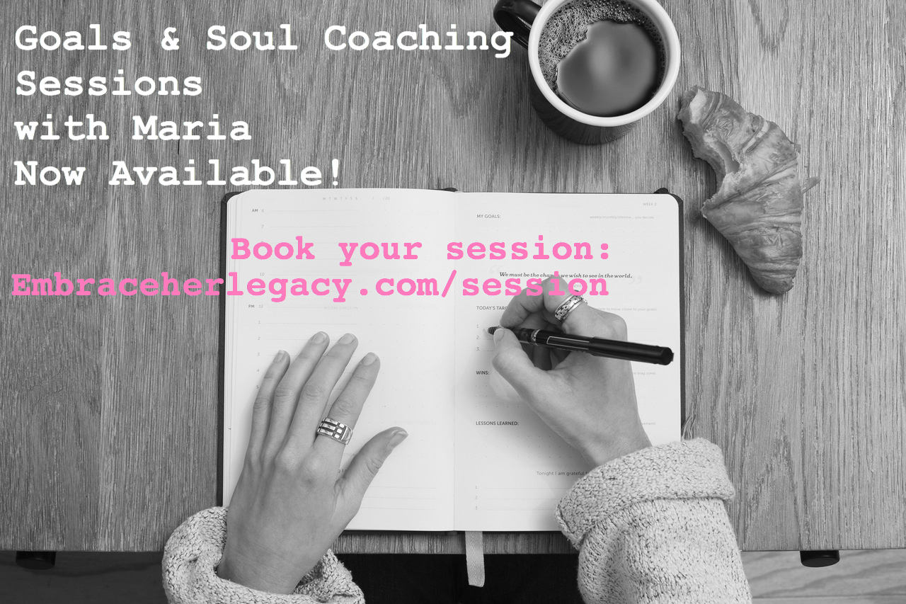 Schedule Your Goals & Soul Coaching Session with Maria!