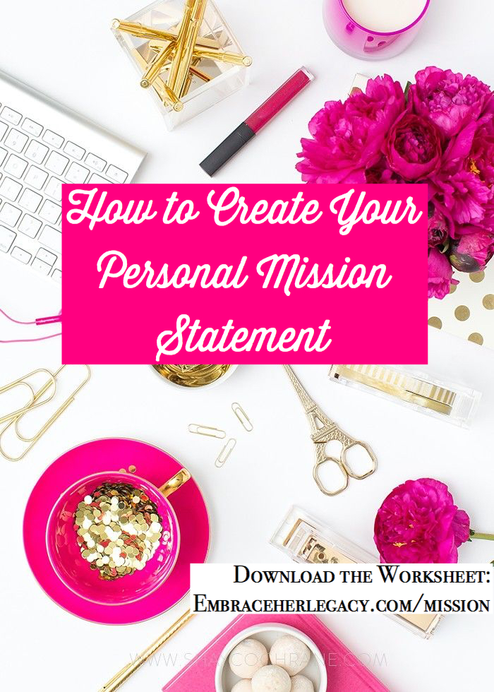 Your Personal Mission Statement Worksheet